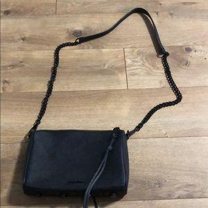 Matte black Rebecca Minkoff crossbody bag